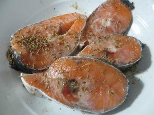 рецепт жареного лосося с фото