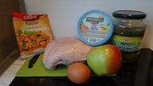 салат домашний с курицей