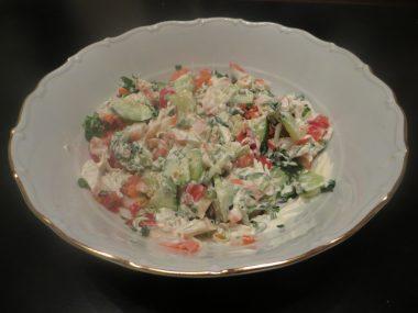 салат крабовый с овощами