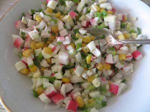 крабовые палочки салат рецепт классический