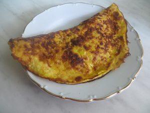 Овсяно-блин с сыром и зеленым луком