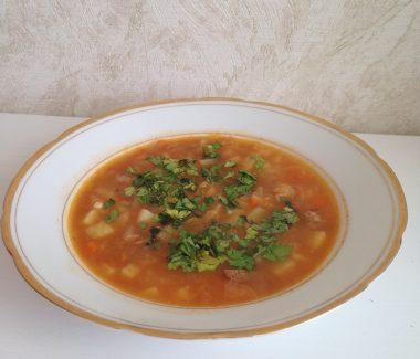 Густой суп с картофелем