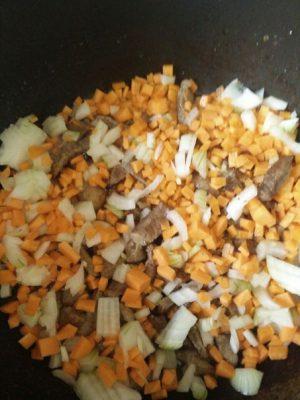 гречка с мясом и овощами
