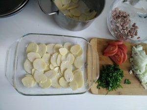 запеченный картофель с мясом фото