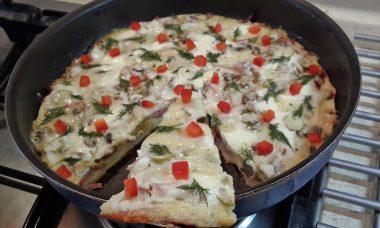 "Пицца на сковороде ""Скороспелая"""