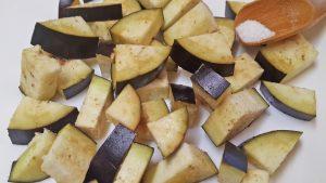 Соте овощное - баклажаны