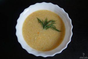Крем-суп с овощами и курицей
