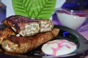 блинчики с начинкой творог и печень