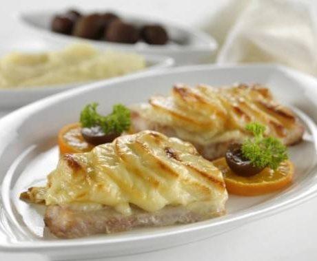 Рыба со сливками и сыром
