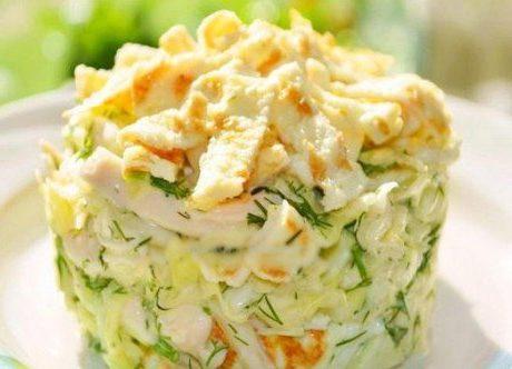 Салат блинчики крабовые палочки
