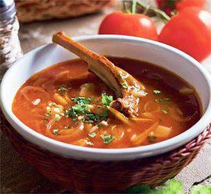 Суп из бараньих ребрышек