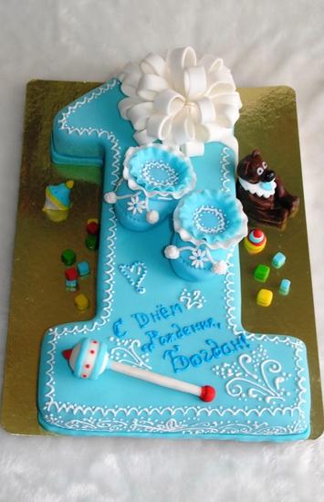 Торт в виде единички мальчику