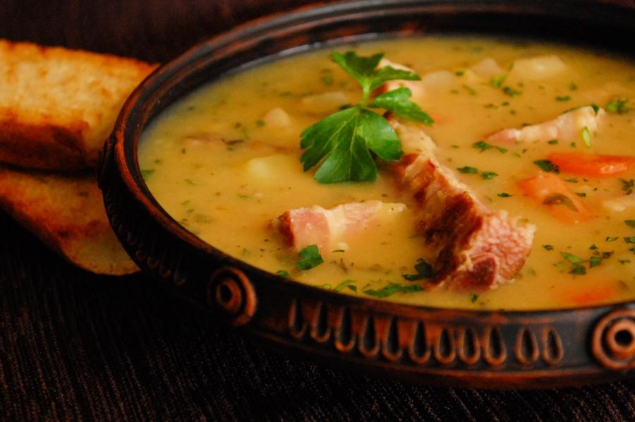 рецепты горохового супа с копченостями фото
