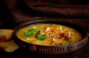 Гороховый суп с ребрышками видео