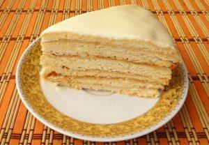 Медовый торт с манкой