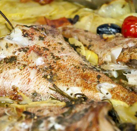Окунь морской тушеный рецепт