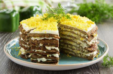 Печеночный торт с манкой