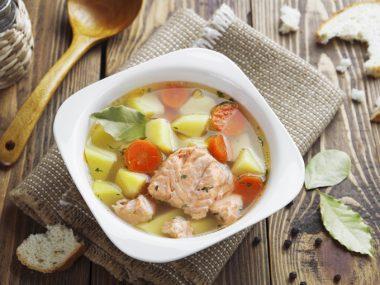 Суп из морского окуня рецепт
