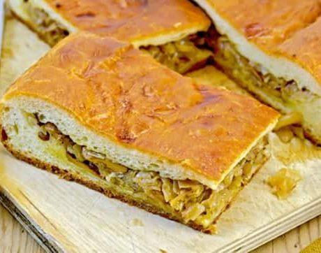 Пироги из пресного теста с капустой