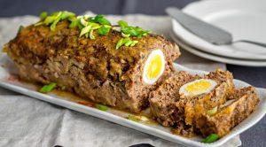 Мясной хлеб с яйцом рецепт