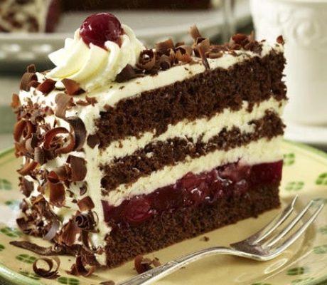 Торт черная вишня