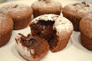 Кексы с шоколадом внутри рецепт с фото