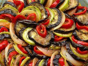 Баклажаны перец помидоры в духовке