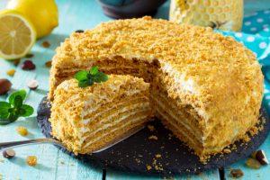 Медовый торт на сковороде рецепт