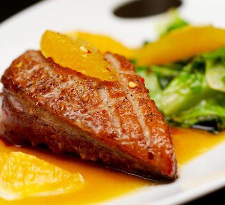 Рецепт утиных грудок в апельсиновом