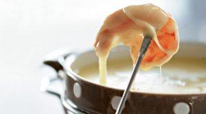 Креветки в сырном соусе