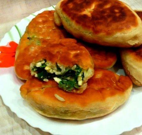 Рецепт жареных пирожков с яйцом