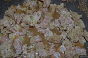 картошка тушеная с говядиной пошагово