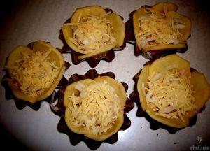 картофельные корзинки с начинкой в духовке