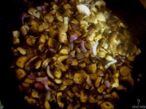 зразы картофельные с фаршем и грибами