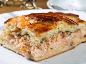 Пирог с форелью рецепт