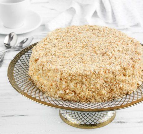 Рецепт торта на сковороде с заварным кремом