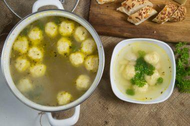 Суп с сырными шариками рецепт