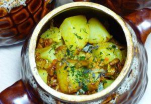 Картошечка в горшочках