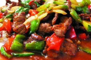Мясо по китайски с болгарским перцем