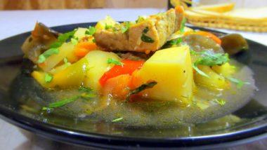 Мясо с баклажанами и картошкой