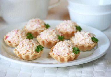 Рецепт тарталетки с крабовыми