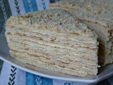Сметанный торт на сковороде рецепт