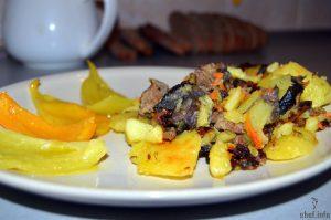 фарш грибы картофель