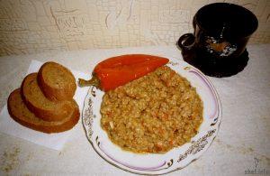 Рис с овощами и мясом