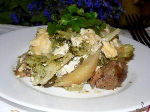 Картофельный гратен с брокколи