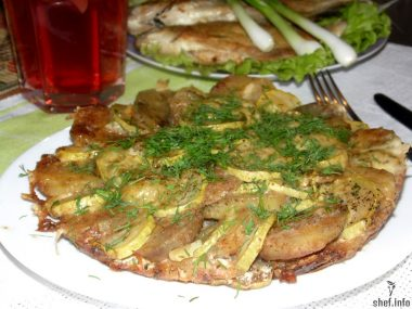 Запеканка из кабачков с картофелем