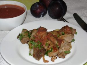 Свинина со сливовым соусом