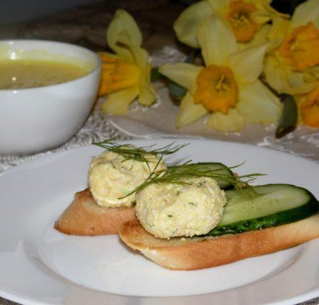 Еврейский салат с домашним майонезом