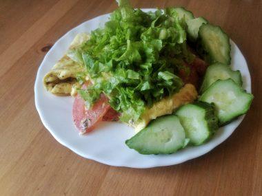 Воздушный омлет с овощами