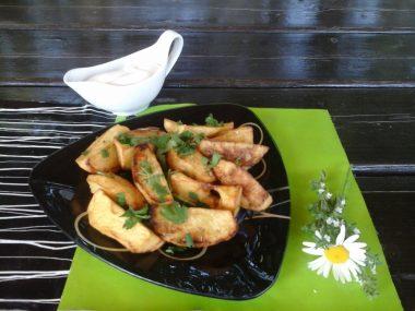 Картофель по-деревенски во фритюре